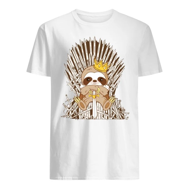 Iron Throne Sloth King Game Of Throne Shirt