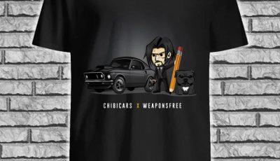 John Wick and his dog Chibicars X Weaponsfree shirt