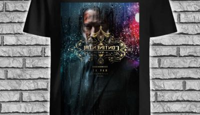 John Wick chapter 3 Parabellum' trailer digital printing leisure shirt