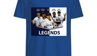 Legends Jorge Posada Mariano Rivera Derek Jeter Bernie Williams Andy Pettitte Shirt