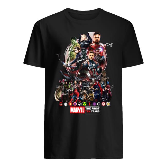 Marvel Avengers Endgame The First Ten years shirt