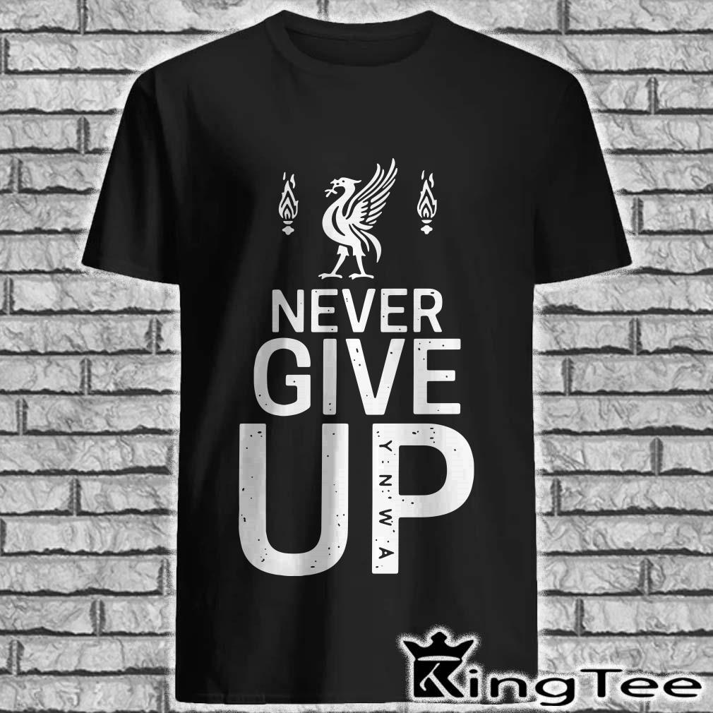 Mohamed Salah Never Give Up Fc Liverpool Shirt