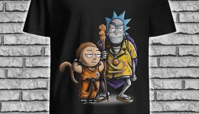Rick and Songoku Morty and Kame shirt