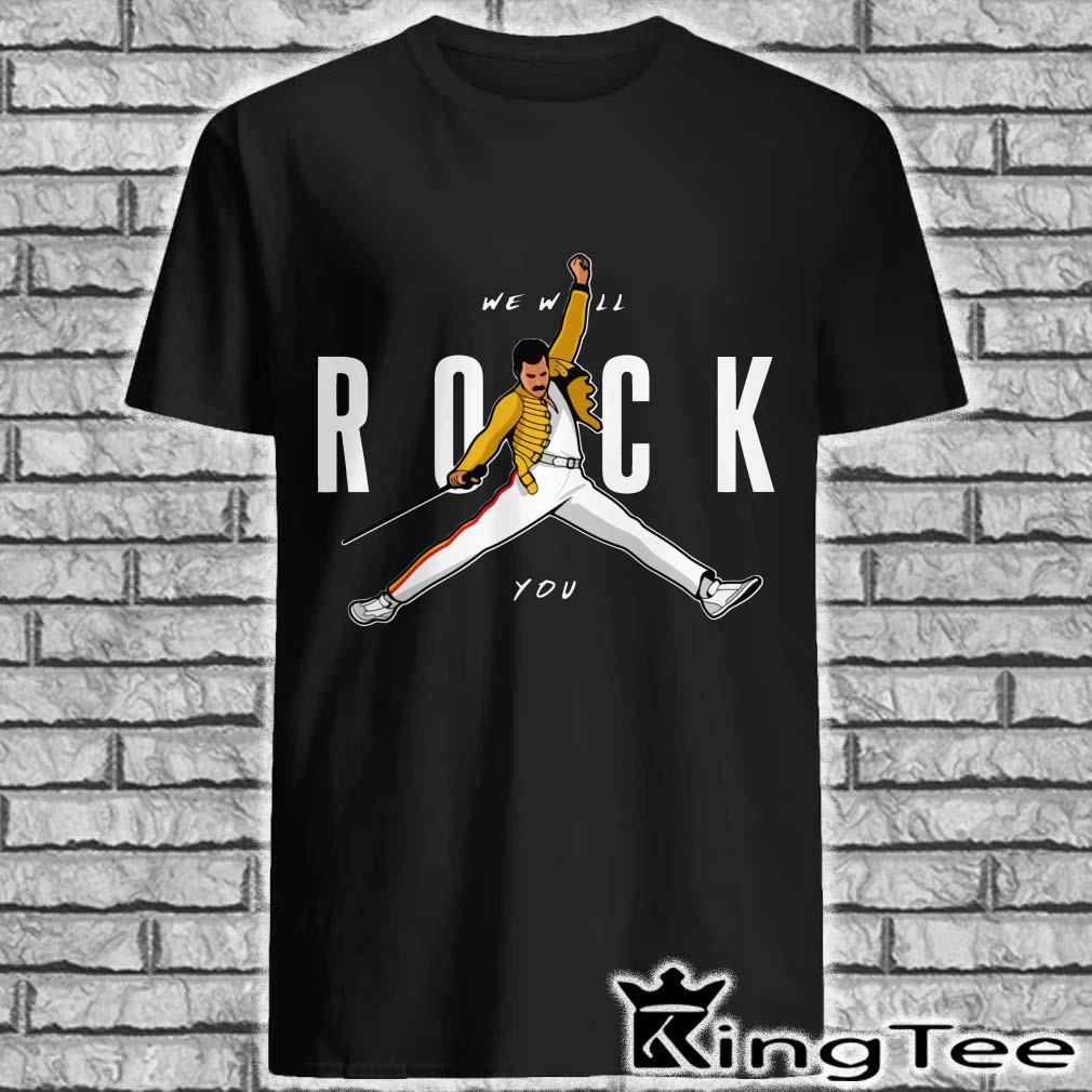 f07663c81 Freddie Mercury We Will Rock You Air Jordan Style shirt, ladies