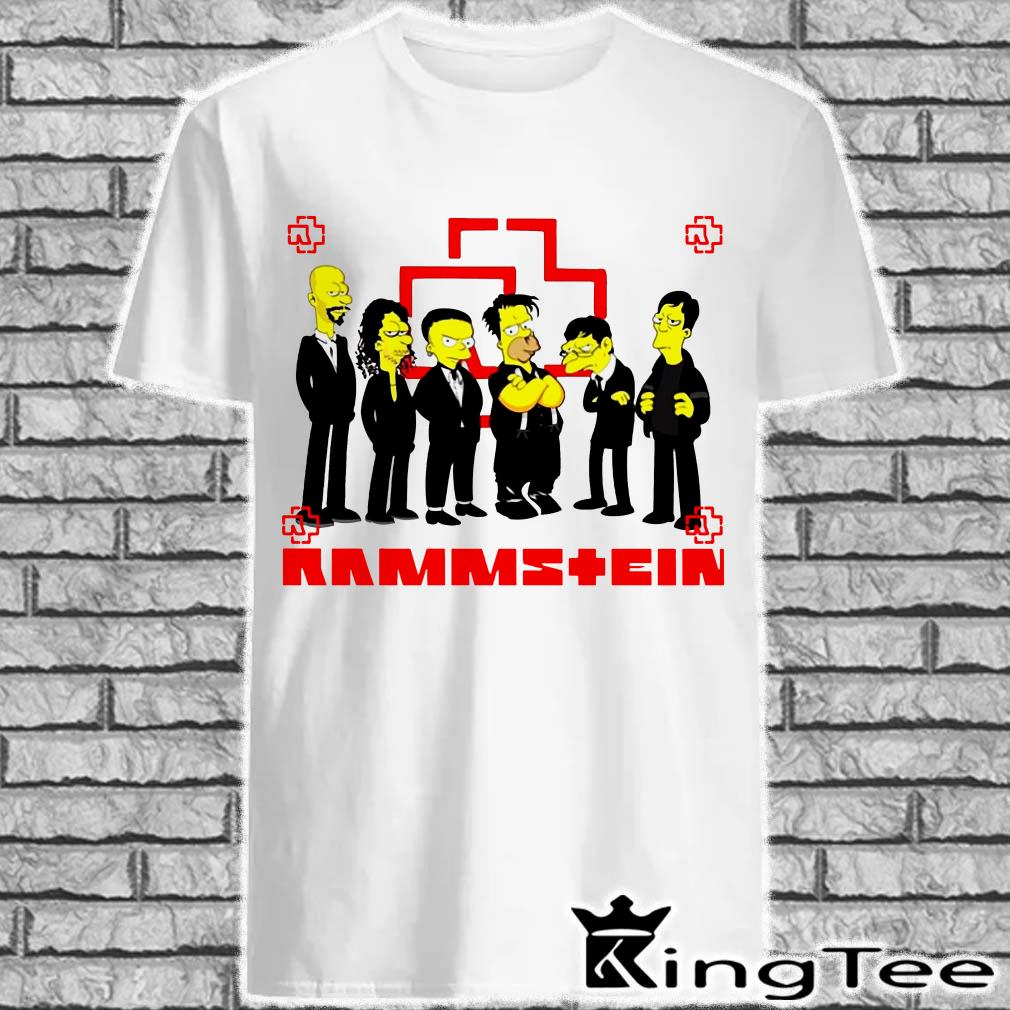 Rammstein Simpsons Style shirt