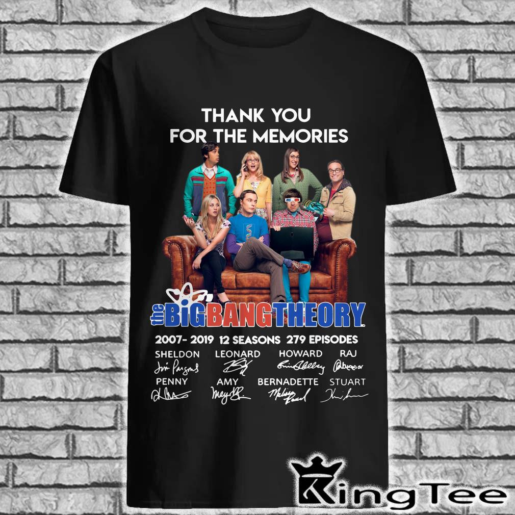 Thank You For The Memories Bigbang Theory Signature Shirt