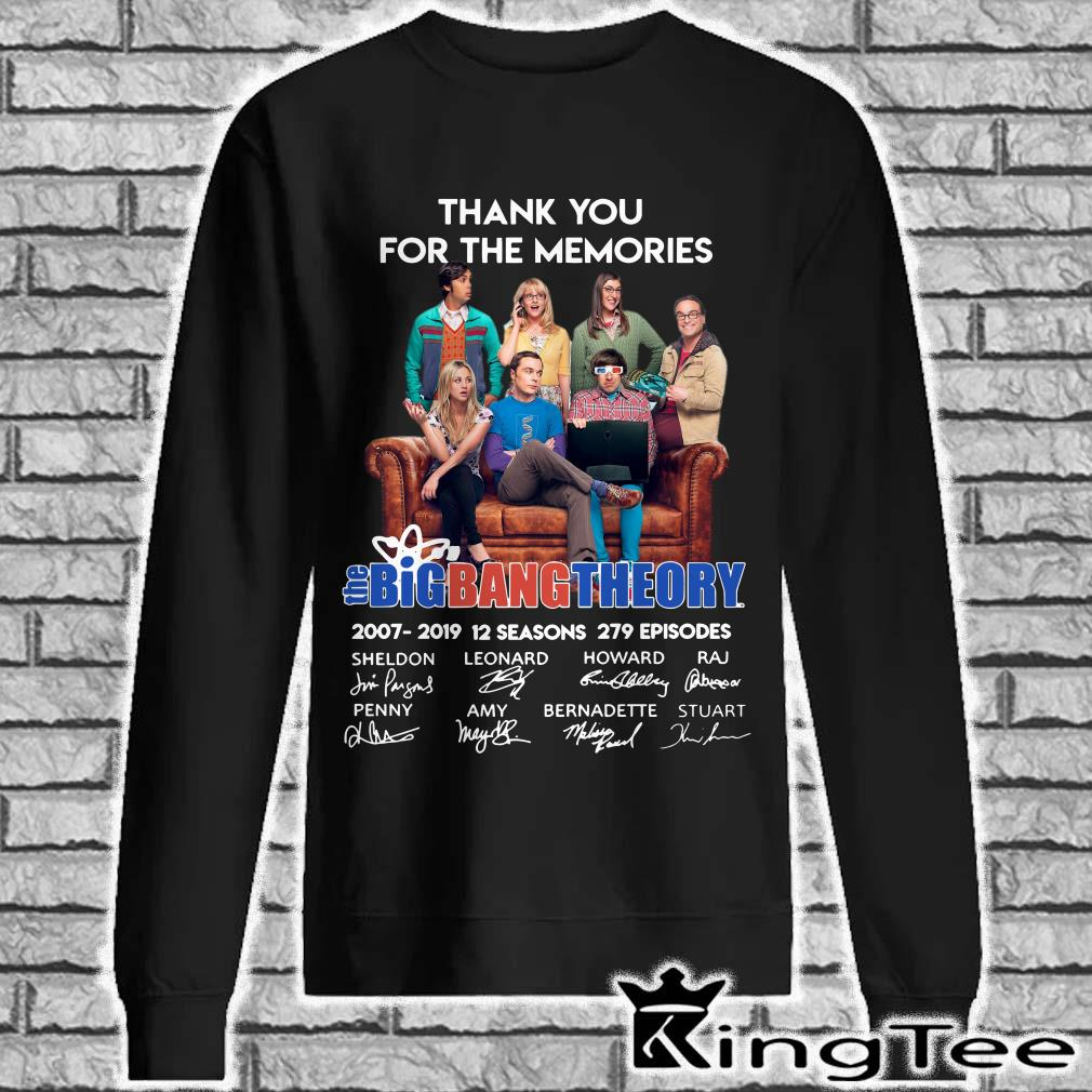 Thank You For The Memories Bigbang Theory Signature sweater
