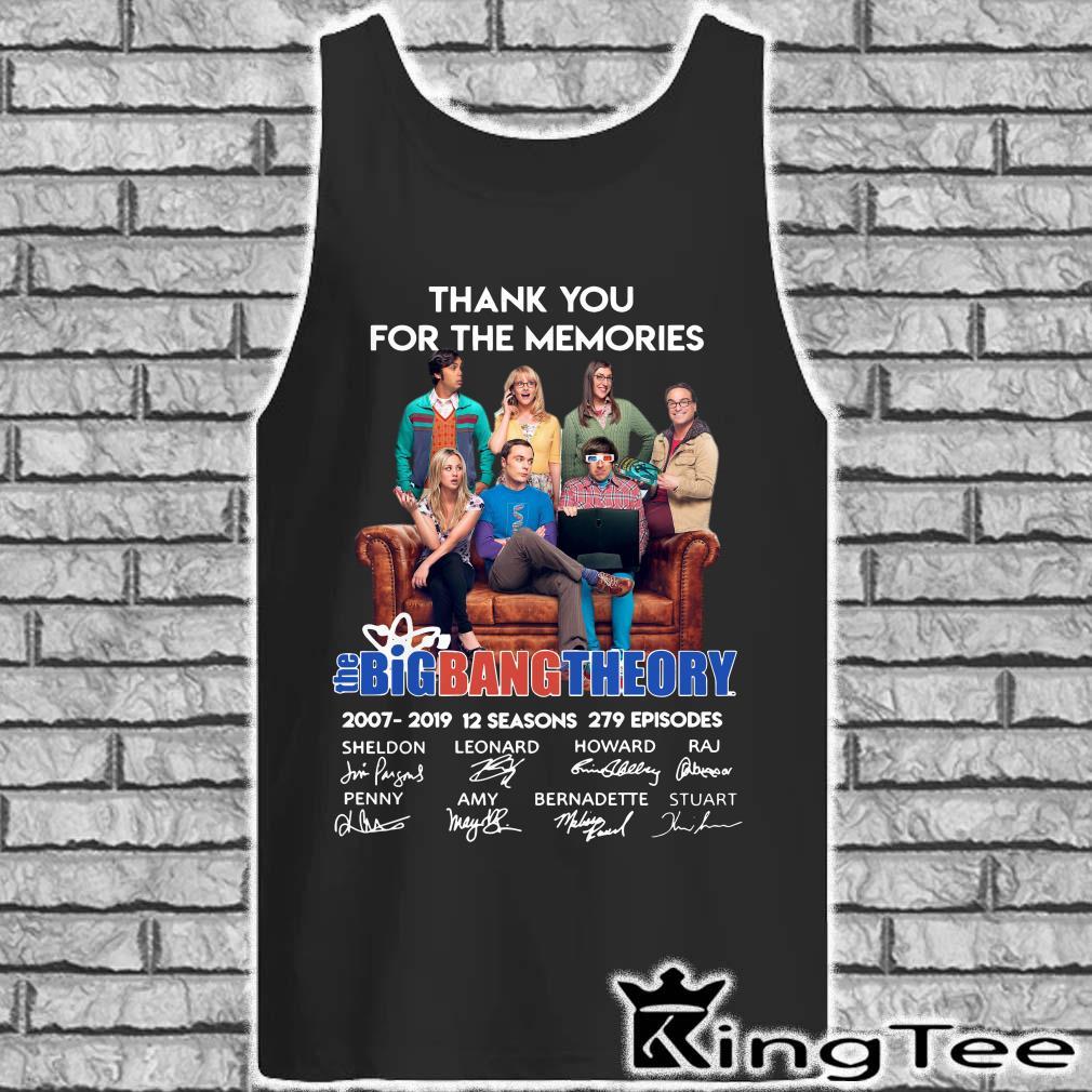 Thank You For The Memories Bigbang Theory Signature tank top