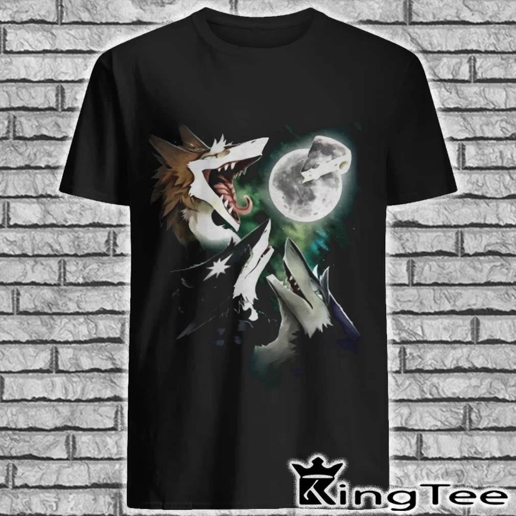 Three Foxs Sergal Moon Cheese Shirt