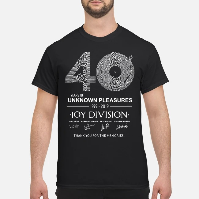 40 year of unknown pleasures 1979-2019 Joy Division thank you shirt