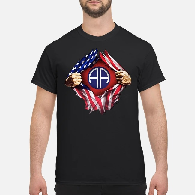 4th Of July independence day Army Airborne blood inside me shirt