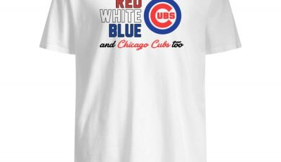 Chicago Cubs Red white bkue UBS and Chicago Cubs too shirt