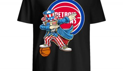Detroit Pistons Dabbing Uncle Sam Independence 4th Of July Shirt