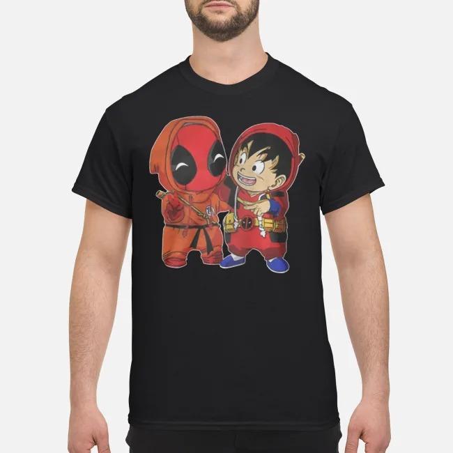 Dragon Ball z Deadpool and Songoku shirt