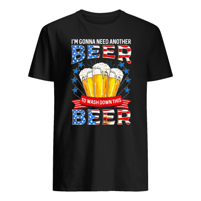 I'm gonna need another beer to wash down this beer American Flag shirt