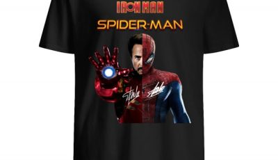 Iron Man And Spider Man Heroes In One Hero Signature Shirt