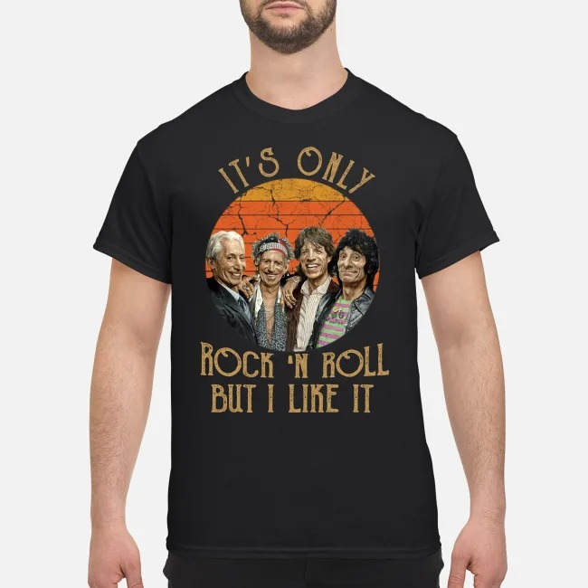 It's Only Rock 'n Roll But I Like It Retro Sunset Shirt