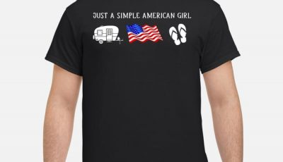Just A Simple Simple American Girl Camping American Flag And Flip Shirt