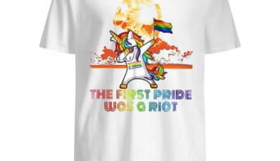 LGBT Unicorn Dabbing the first pride was a Riot shirt