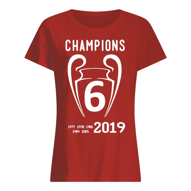 Liverpool 2019 Champions League 6 Time Champions ladies