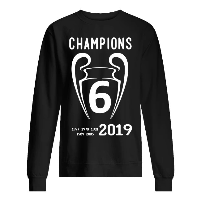 Liverpool 2019 Champions League 6 Time Champions sweater