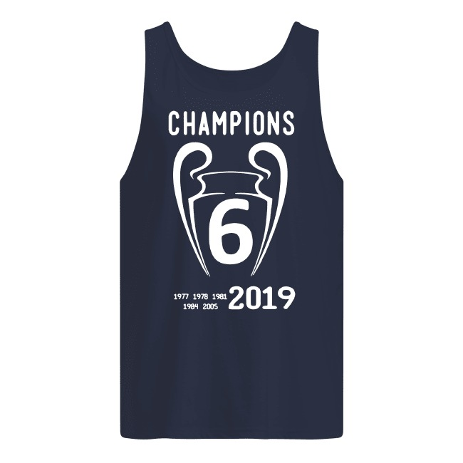 Liverpool 2019 Champions League 6 Time Champions tank top