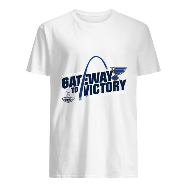 Men's Fanatics Branded Gold St. Louis Blues 2019 Stanley Cup Champions Hooking T-Shirt