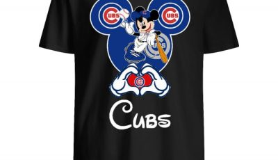 Mickey Mouse Baseball Player Chicago Cubs Shirt