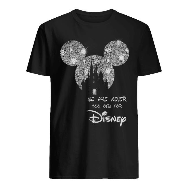 Mickey Mouse wir sind nie ziall fur Disney Castle diamond shirt