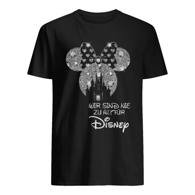 Mickey Mouse wir sind nie ziall fur Disney Germany diamond shirt