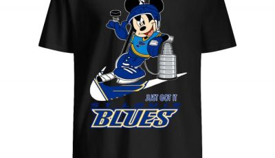 NHL St. Louis Blues Stanley Cup Nike Mickey Mouse Shirt