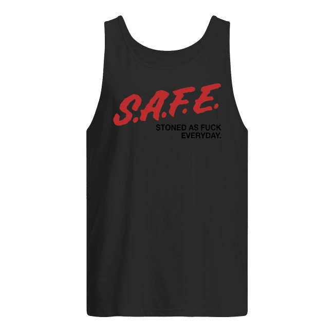 SAFE Stoned as fuck everyday tank top