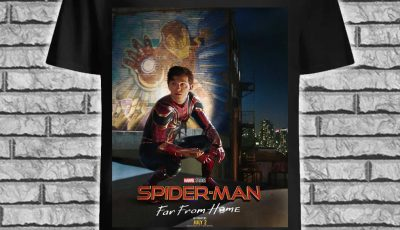Spider-Man Far From Home poster Iron Man shirt