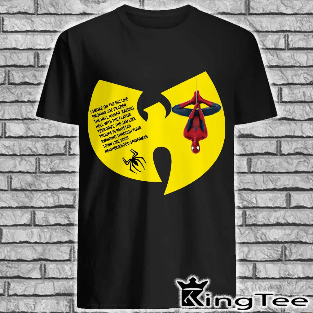 Spider-man Wu-tang Clan I smoke on the mic shirt
