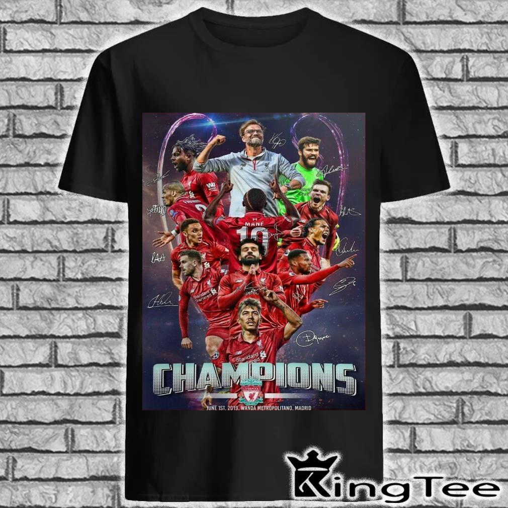 Liverpool Champions of Euro six times 2018 2019 Madrid champi6ns Shirt