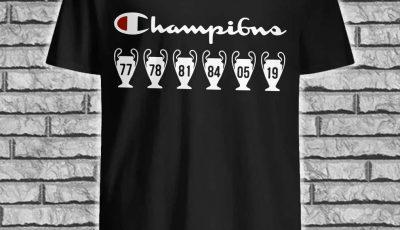 UEFA champions 6th cups shirt
