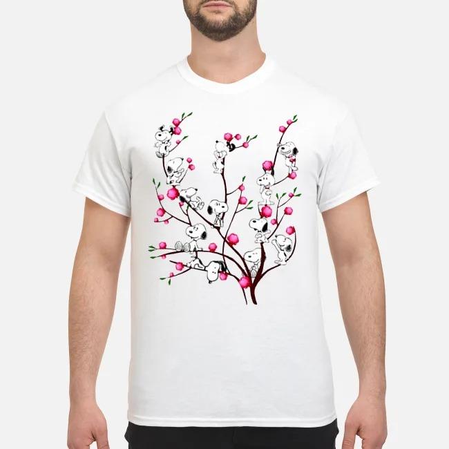 Snoopy on Peach Tree shirt