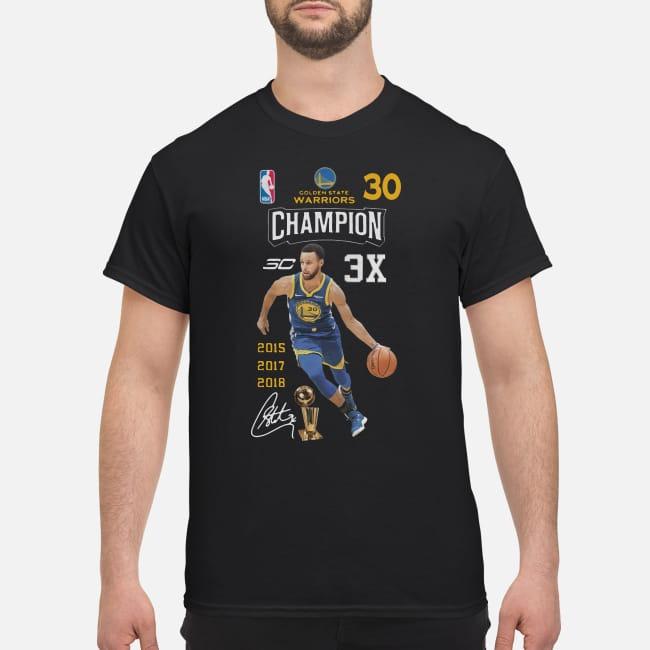 Stephen Curry NBA Golden State Warriors 30 Champion 3X shirt