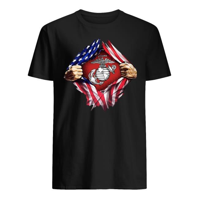 United States Marine Corps American flag shirt
