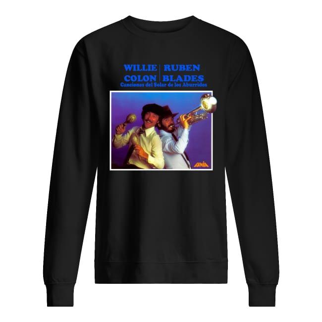 Willie Colon Ruben Blades Canciones del Solar de los Aburridos sweater