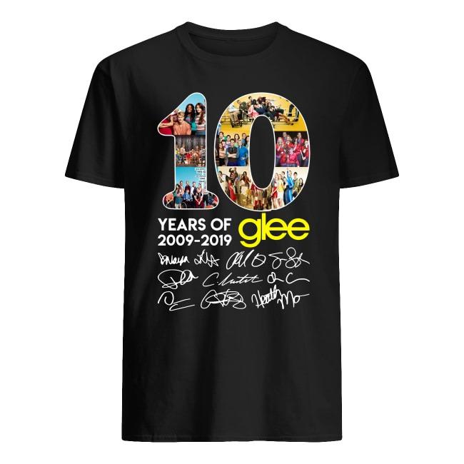 10 years of Glee 2009 2019 signature shirt