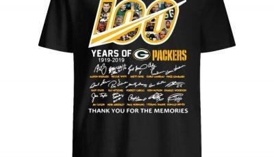 100 years of Packers 1919-2019 anniversary signature shirt