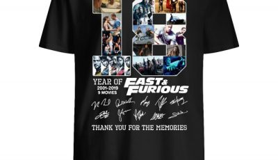 18th Fast And Furious 2001-2019 thank you for the memories signature Shirt