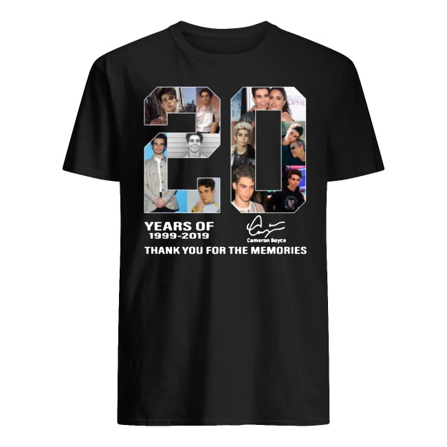 20 Years Of Cameron Boyce 1999-2019 Thank You For The Memories Shirt