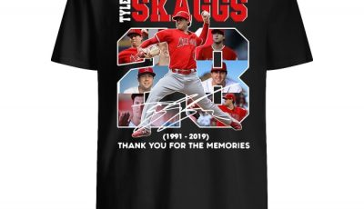 28 Years Tyler Skaggs 1991 2019 Thank You For The Memories Shirt