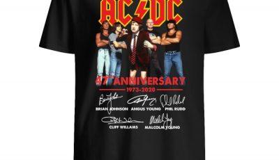 ACDC 47th Anniversary signatures shirt