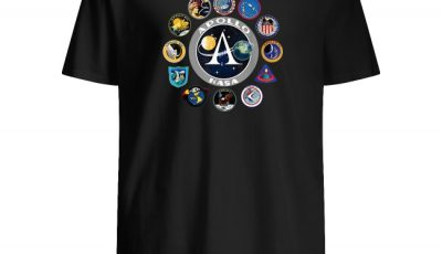 Apollo missions patch badge NASA program shirt