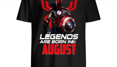 Avengers All Heroes In One Legends Are Born In August Shirt