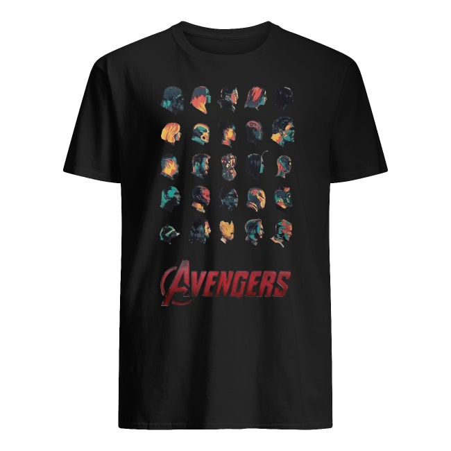 Avengers super heroes face shirt