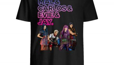 Disney Descendants Mal Carlos Evie Jay shirt